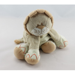 Doudou lion beige orange jungle BENGY 22 cm