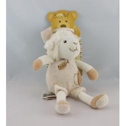 Doudou pantin mouton funny blanc BABY NAT Neuf