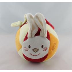 Doudou musical lapin rouge blanc papillon SUCRE D'ORGE