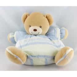 Doudou ours bleu vert 10 ans de Bonheur KALOO