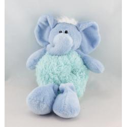 Doudou deux hippopotames bleu CMP