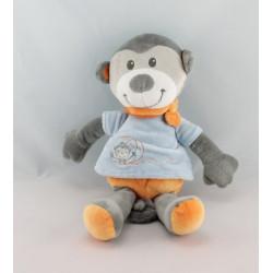 Doudou singe orange bleu KITCHOUN KIABI NICOTOY