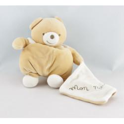 Doudou plat ours beige Au dodo le Ninnin moutons NOUNOURS