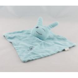 Doudou plat bleu publicitaire Le Chat