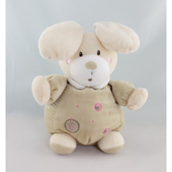 Doudou musical lapin rayé beige ABC NICOTOY