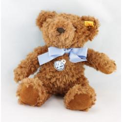 Doudou ours beige bleu rayé STEIFF