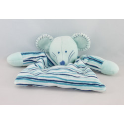 Doudou plat dentition souris bleu TIAMO COLLECTION