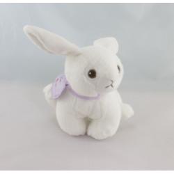 Doudou lapin blanc pois My Baby NICOTOY