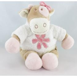 Doudou vache rose rosalie Dotty lola pois NOUKIE'S 25 cm