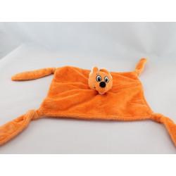 Doudou peluche Kangourou orange WALIBI 15 cm
