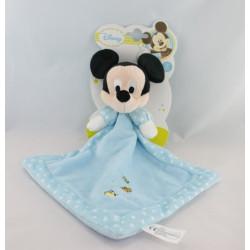 Doudou plat Mickey bleu DISNEY