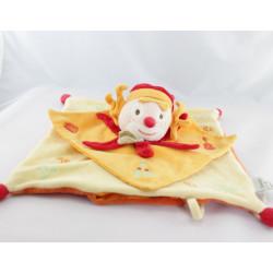 Doudou et compagnie plat clown orange rouge do ré mi fa