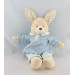 Doudou lapin beige bleu JOLLYBABY