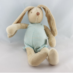 Doudou lapin beige rayé bleu Malo MOULIN ROTY