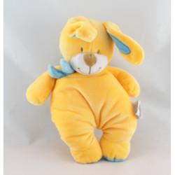Doudou lapin jaune bleu écharpe BENGY