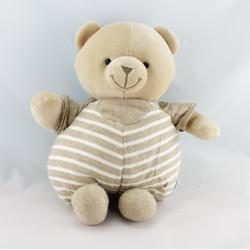 Doudou ours beige rayé NOUNOURS