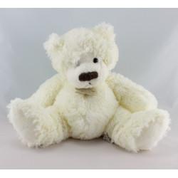 Doudou  ours blanc créme tout doux HISTOIRE D'OURS