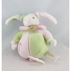 Doudou musical  lapin rose vert BABY NAT