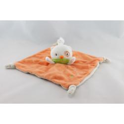 Doudou plat chat cocard orange beige KITCHOUN KIABI