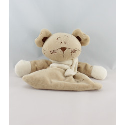 Doudou plat ours souris beige TIAMO COLLECTION