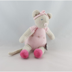 Doudou Souris Lila Patachon rose rayé MOULIN ROTY