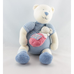 Doudou musical ours bleu Lila Patachon MOULIN ROTY