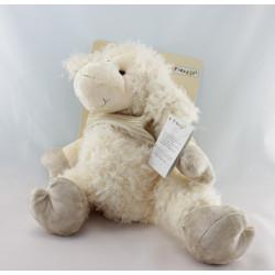 Doudou mouton blanc pull rayé beige PLAYKIDS