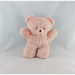 Ancienne peluche ours rose AJENA