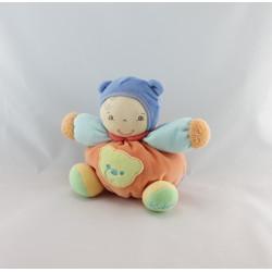 Doudou poupon patapouf orange bleu Chubby baby doll blue KALOO
