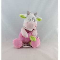 Doudou musical vache rose blanche pois MOTS D'ENFANTS