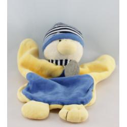 Doudou et compagnie marionnette Gaspard canard bleu jaune bouée