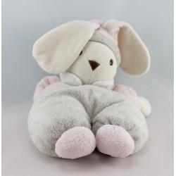 Doudou lapin gris rose NOUNOURS