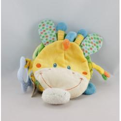Doudou livre girafe jaune NICOTOY
