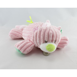 Doudou musical ours rose coeur vert étoile BABY NAT
