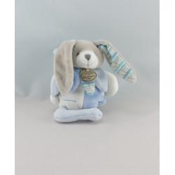 Doudou et compagnie hochet lapin bleu pétale Mon doudou à moi