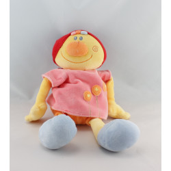 Doudou Billy et Babette rose bonnet rouge NATTOU