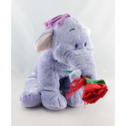 Doudou  Eléphant mauve éfélant Lumpy rose rouge Disney Nicotoy