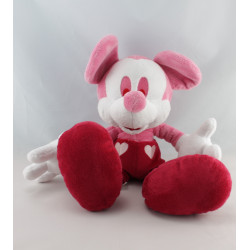 Doudou Mickey Minnie rose rouge coeur DISNEY STORE