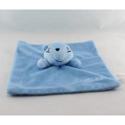 Doudou plat marmotte bleu URIAGE