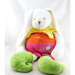 Doudou range pyjama lapin arlequin rose orange balle BABY NAT