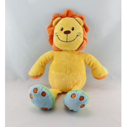 Doudou lion jaune orange vert bleu MA PTITE TRIBU
