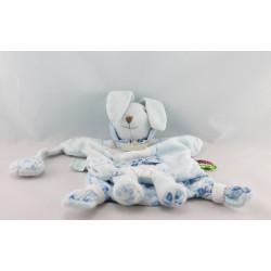 Doudou et compagnie tatoo plat marionnette lapin bleu tendresse