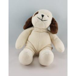 Doudou chien blanc marron H ET M HM
