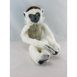 Peluche singe blanc beige gris WILD REPUBLIC