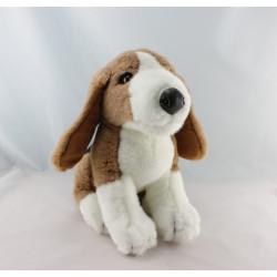 Peluche chien marron blanc noir COMPAGNIE OLIVIER