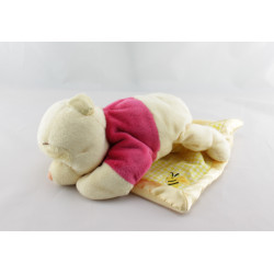 Doudou Winnie l'Ourson avec mouchoir abeille Disney
