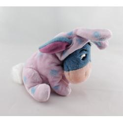 Doudou Bourriquet lapin rose pois bleu DISNEY