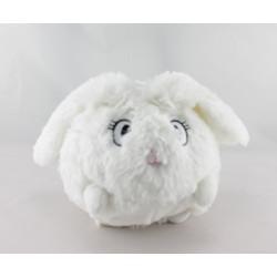 Doudou  lapin boule blanc DPAM Du Pareil Au Même