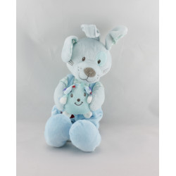 Doudou musical lapin bleu hérisson TEX
