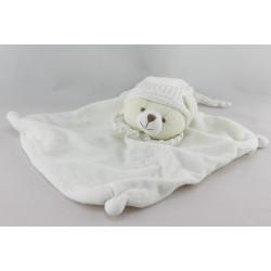 Doudou et compagnie plat ours blanc col blanc
